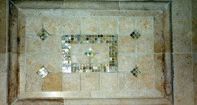 Custom design w/mosiac tiles