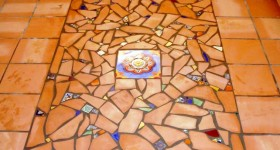 Unique mosaic floor