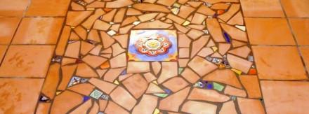 Unique mosaic floor