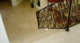 Custom tiled stairs