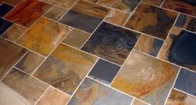 Custom slate floor