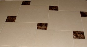 Custom tile floor design
