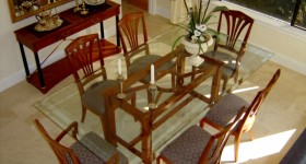 Modern dining room floor