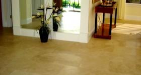 Modern tiled floor