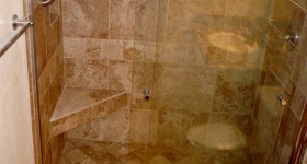 Shower w/custom seat
