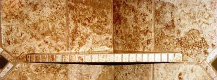 Shower w/custom corner shelf