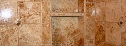 Custom shower w/shelf