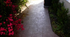 Tiled outdoor walkway