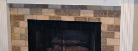 Tumbled Stone Fireplace