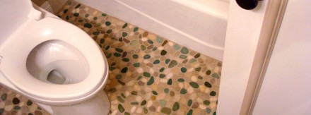 Pebble Stone Bathroom Floor